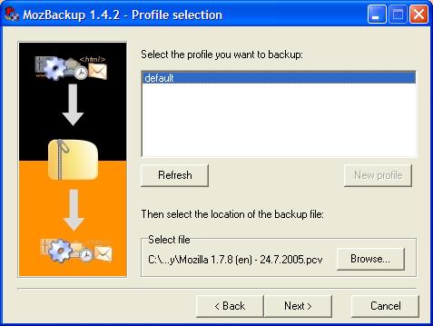 Mozilla firefox backup